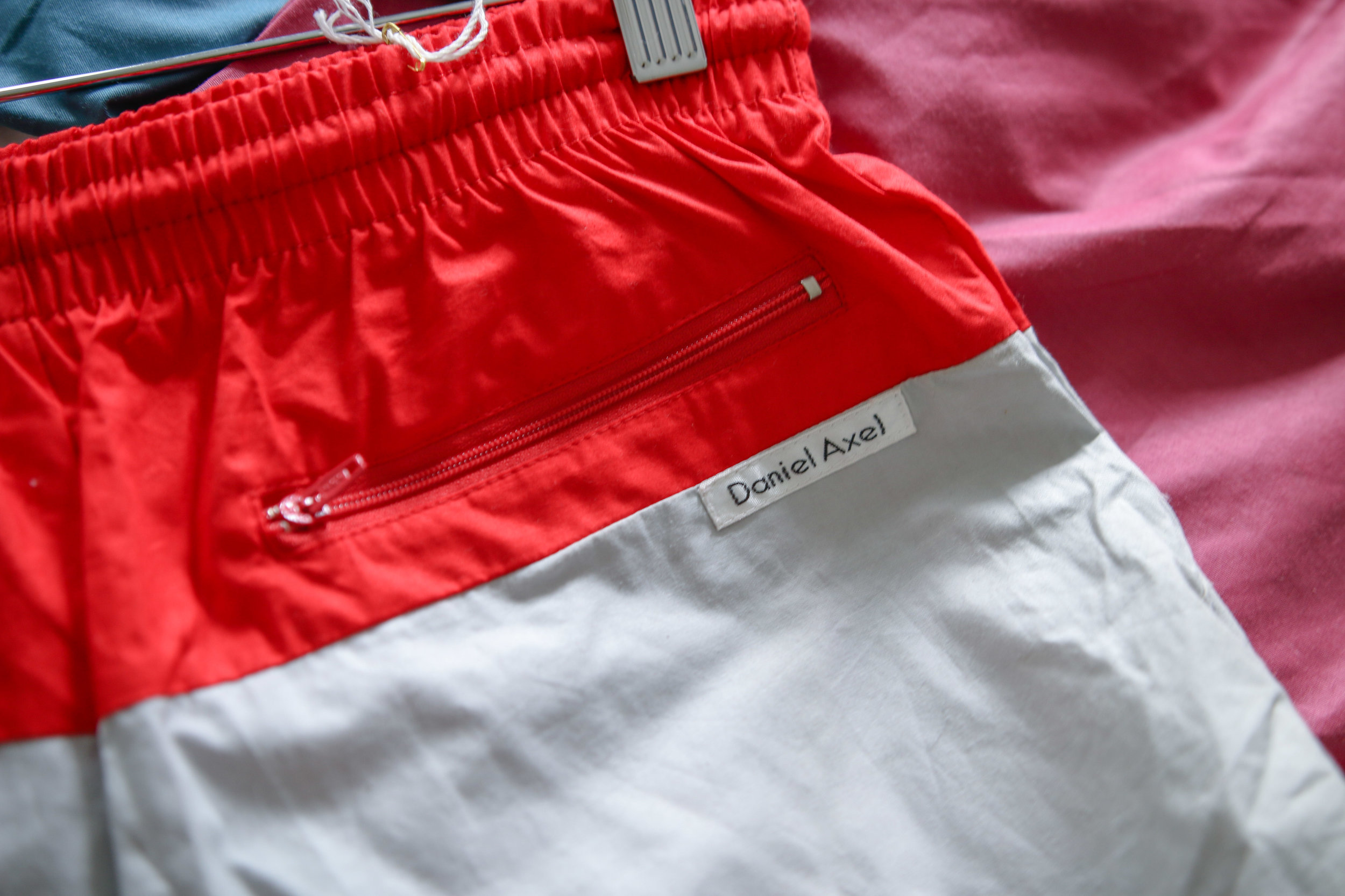 e36b34447e XS - Daniel Deadstock Swim Shorts - White / Red / Yellow — THE ...