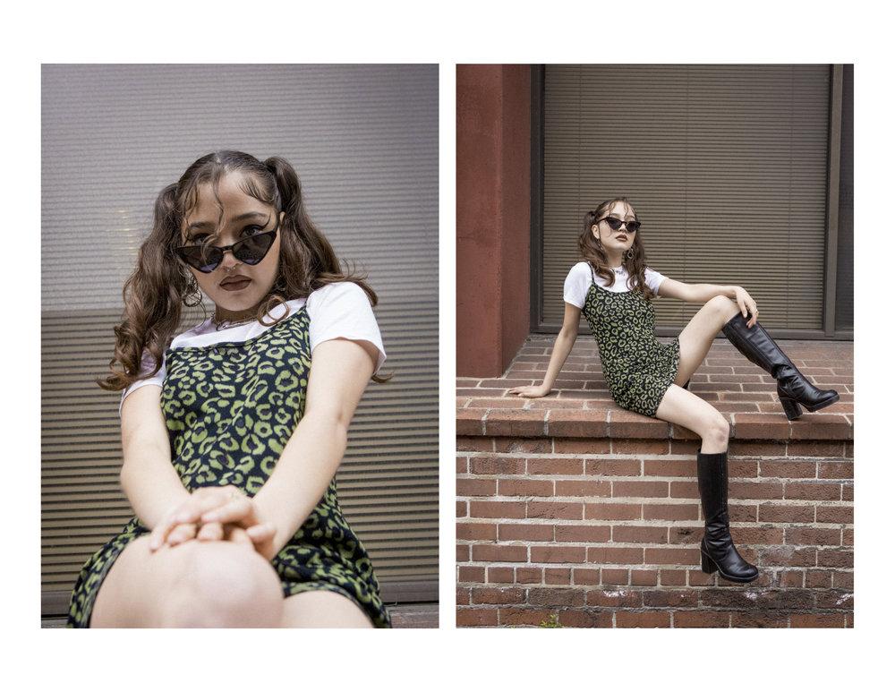 Cheetah Mini Knit Dress, S20  | Deadstock Wallet Chain / Necklace, $10