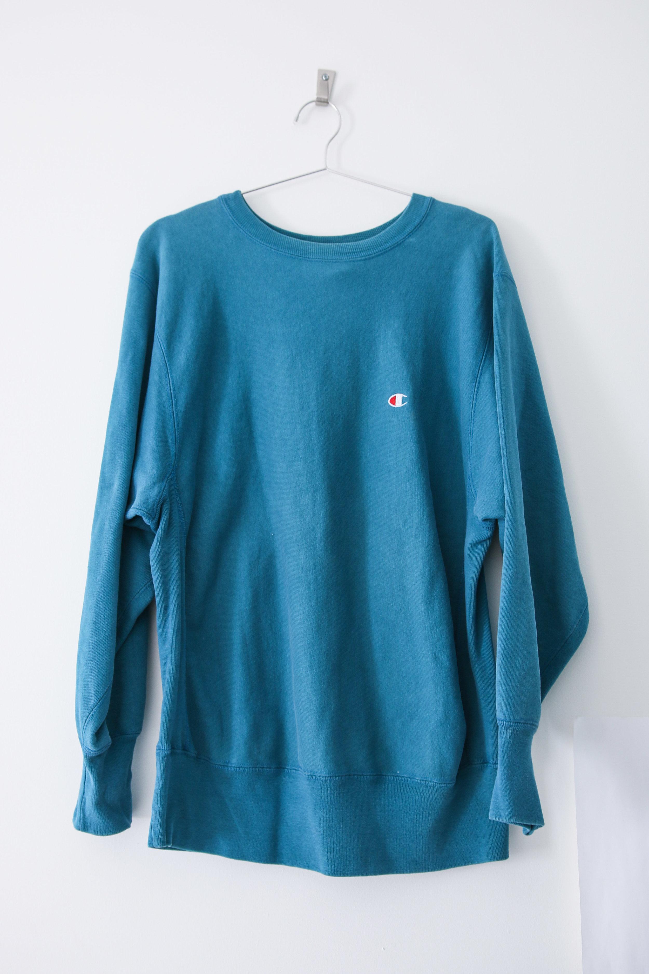 c30850a8867a M - Vintage Champion Sweatshirt Reverse Weave - Teal. TCP - online-0890.jpg