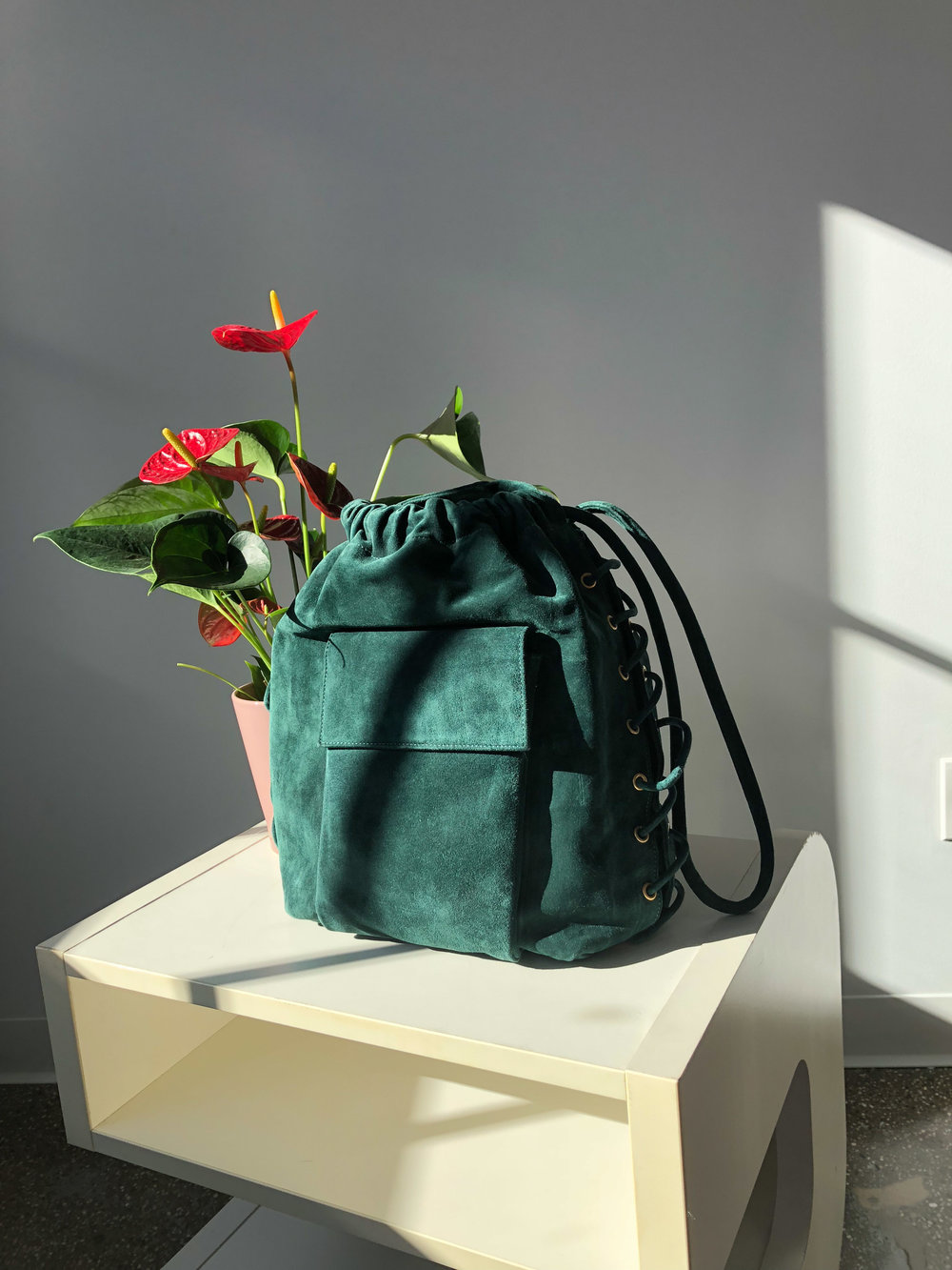 Vintage Donna Karen Leather Bucket Bag, $65
