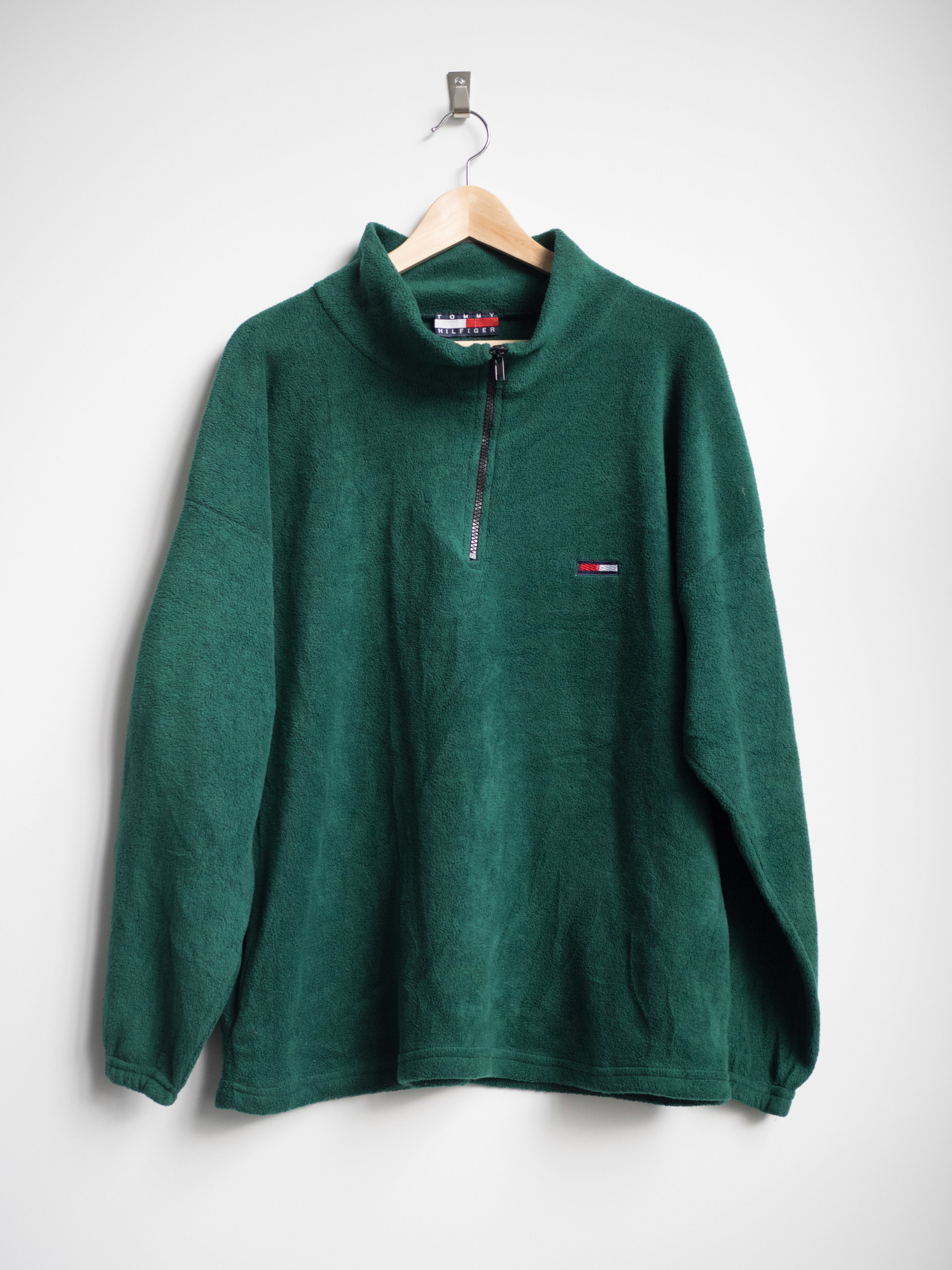 31bda6bd8 M (Unisex) - Vintage Tommy Hilfiger Fleece Pullover Sweater - Green — THE  CONSISTENCY PROJECT