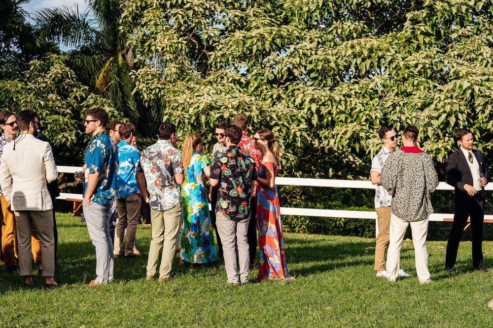 """Our attire theme was """"Vintage Aloha"""" - can you tell? ;)  Photo by  Charlie Aufman"""