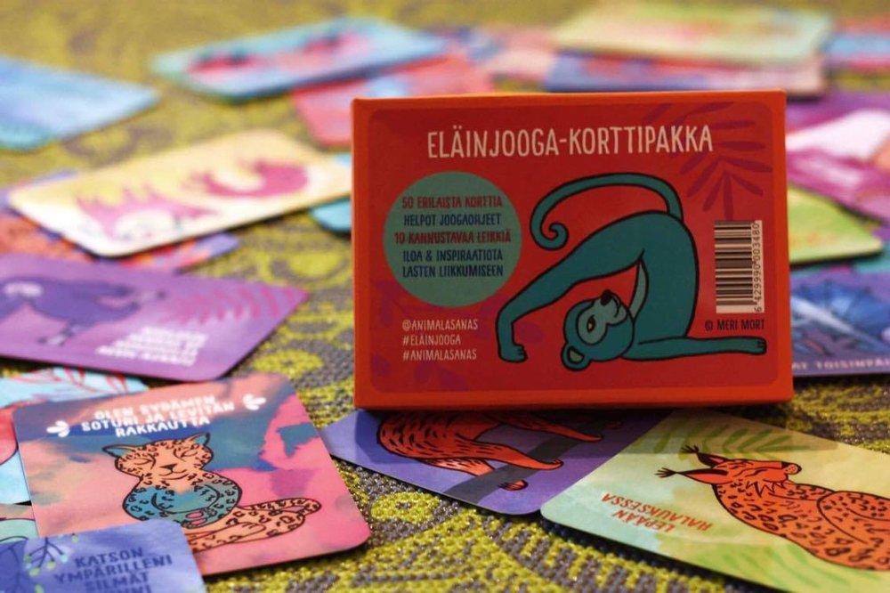 HaminJoogasta voit ostaa myös lasten eläinjooga-kortit