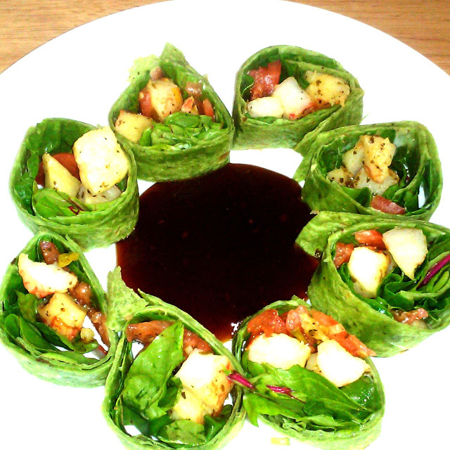 Spinach wrap appetizer
