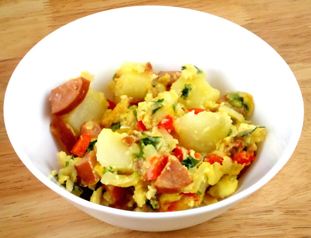 Breakfast potatoes with sausage