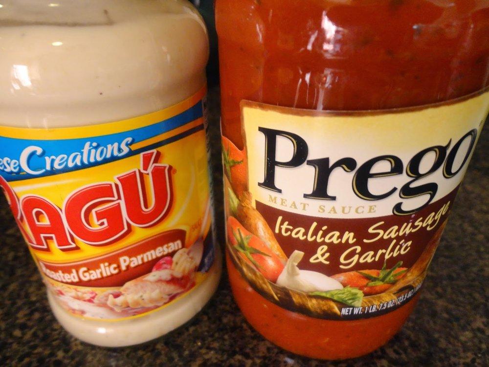 Prego and ragu sauce
