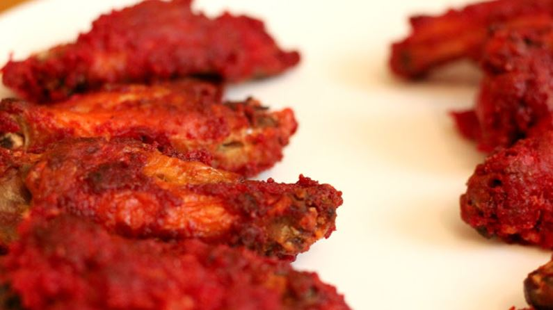 Flamin hot cheetos fried chicken wings
