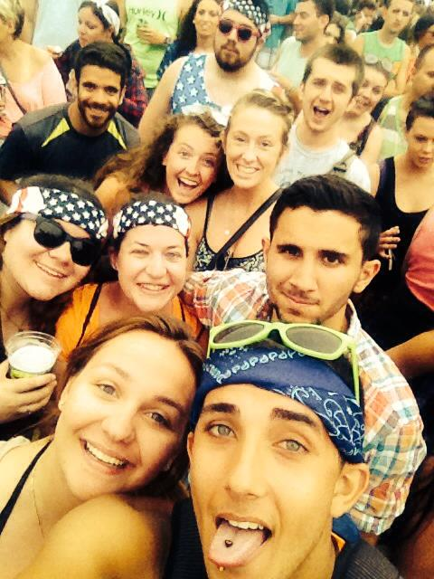 Firefly 2014, a selfie where we pretend not to be too exhausted and sunburnt to stand up - complete with the heavy Instagram filter.
