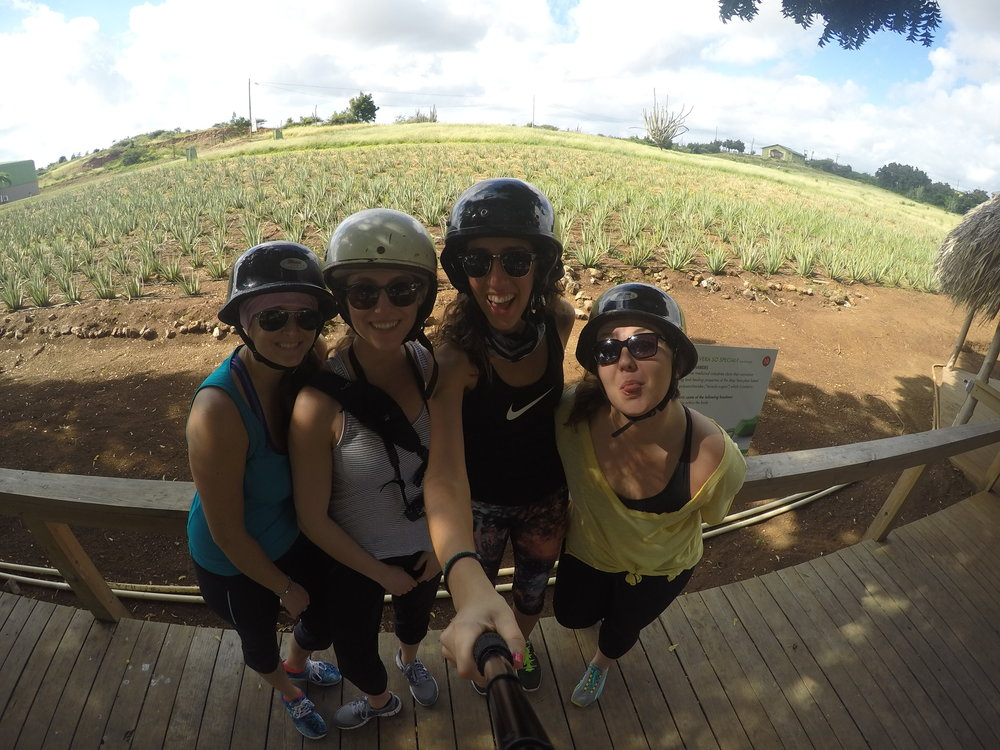 Our ATV stop at the aloe farm to soothe our sun-abused skin.
