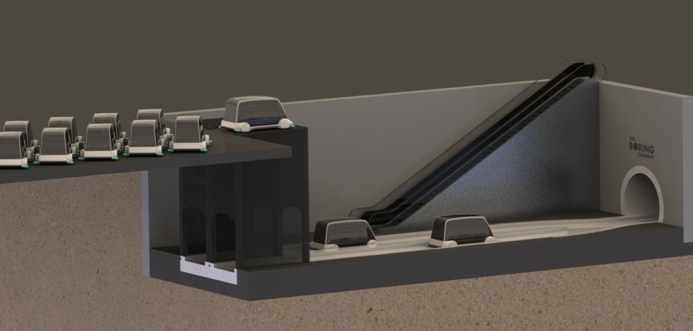 Western terminus configuration.
