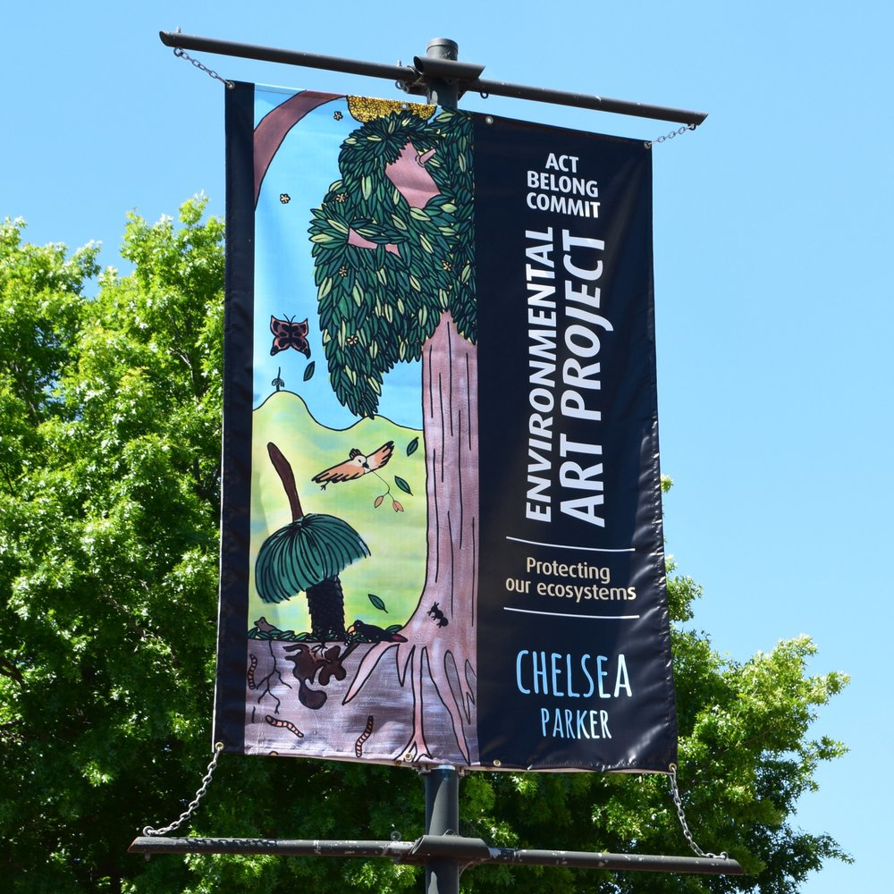 Swan Environmental Art Project 2017 Banner by Chelsea Parker