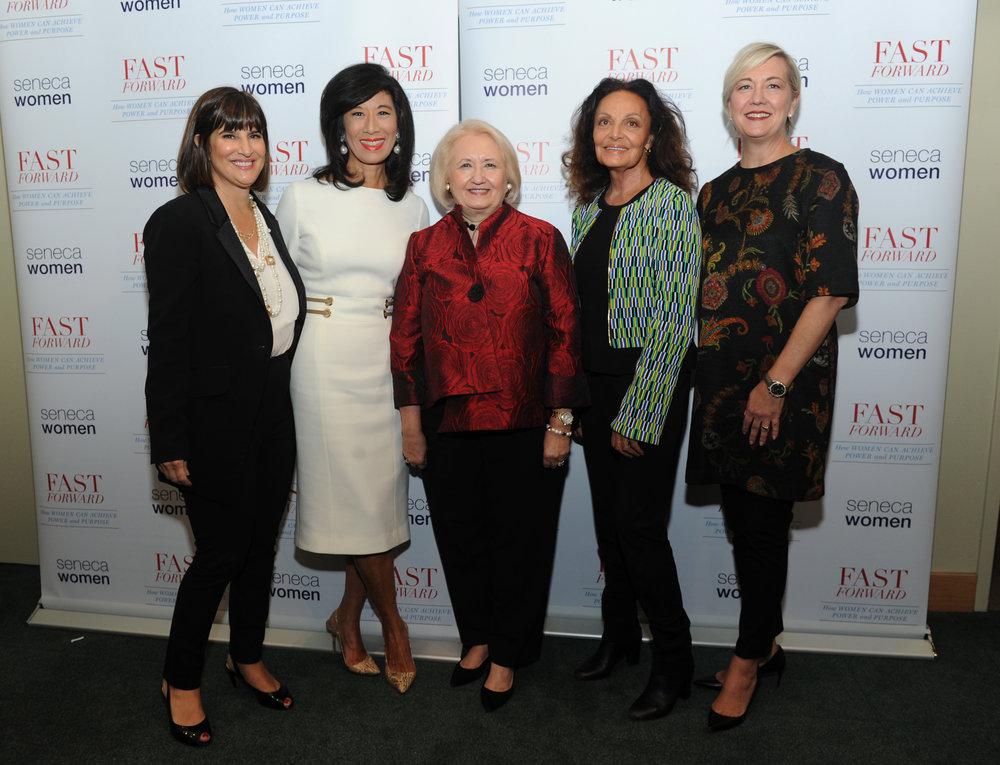 Kim Azzarelli, Andrea Jung, Melanne Verveer, DVF and Carolyn Tastad.jpg