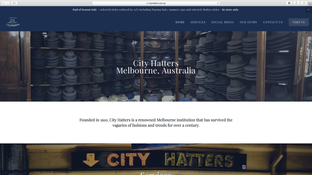 City Hatters, Australia's Oldest Hat Shop, Melbourne