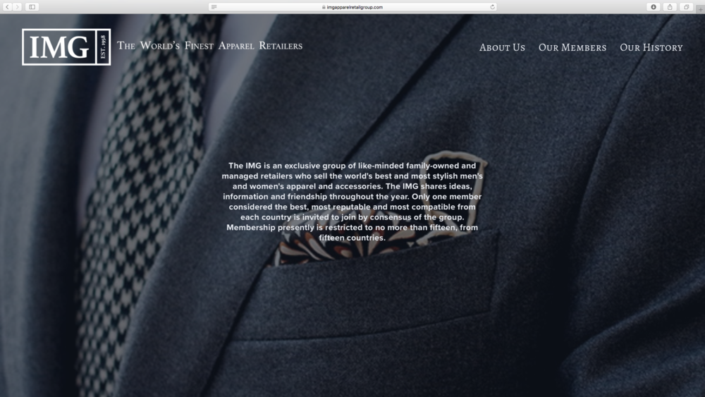 IMG - International Menswear Group, Exclusive Group of High End Fashion Retailers, The Netherlands