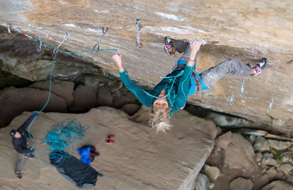Working on Pure Imagination, 5.14c, Red River Gorge