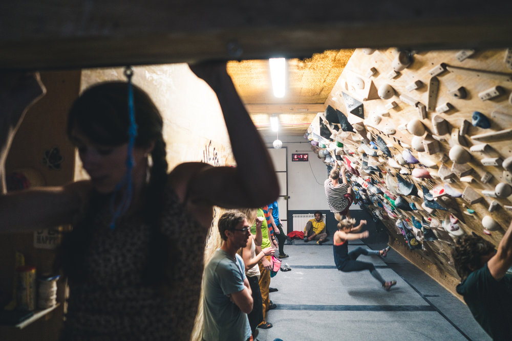 When the whole crag goes inside!