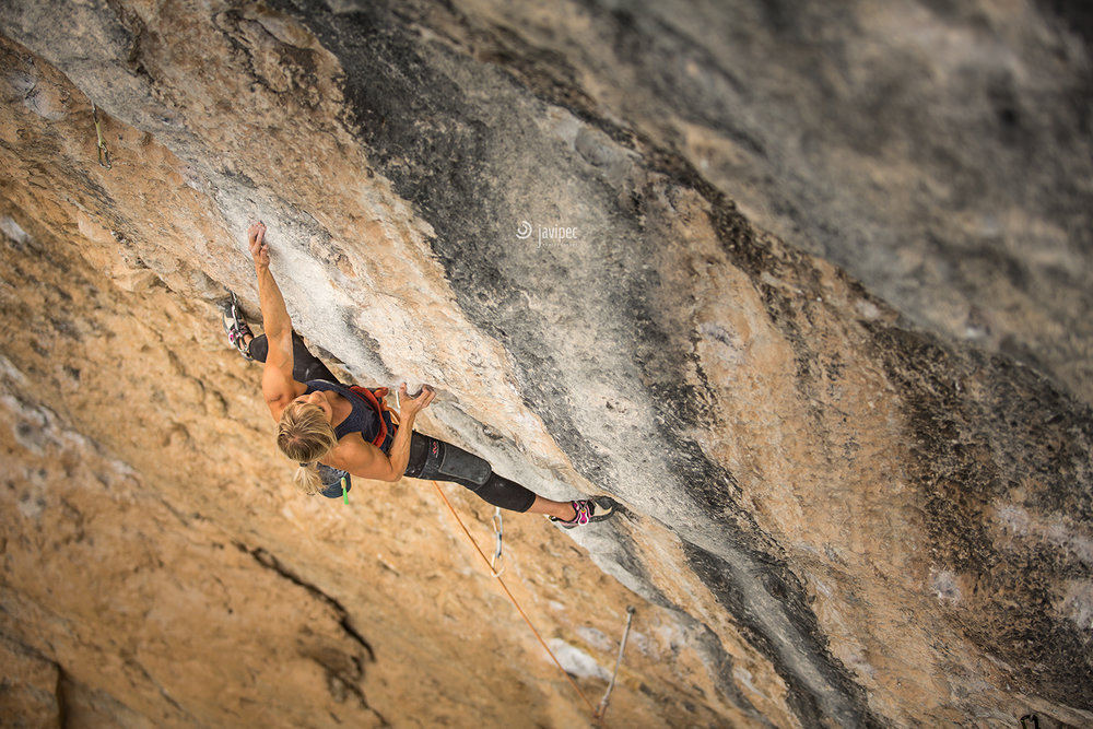 Picture by Javi Pec of me giving my high point on ' Joe Cita, 9a'  in Oliana on last april.