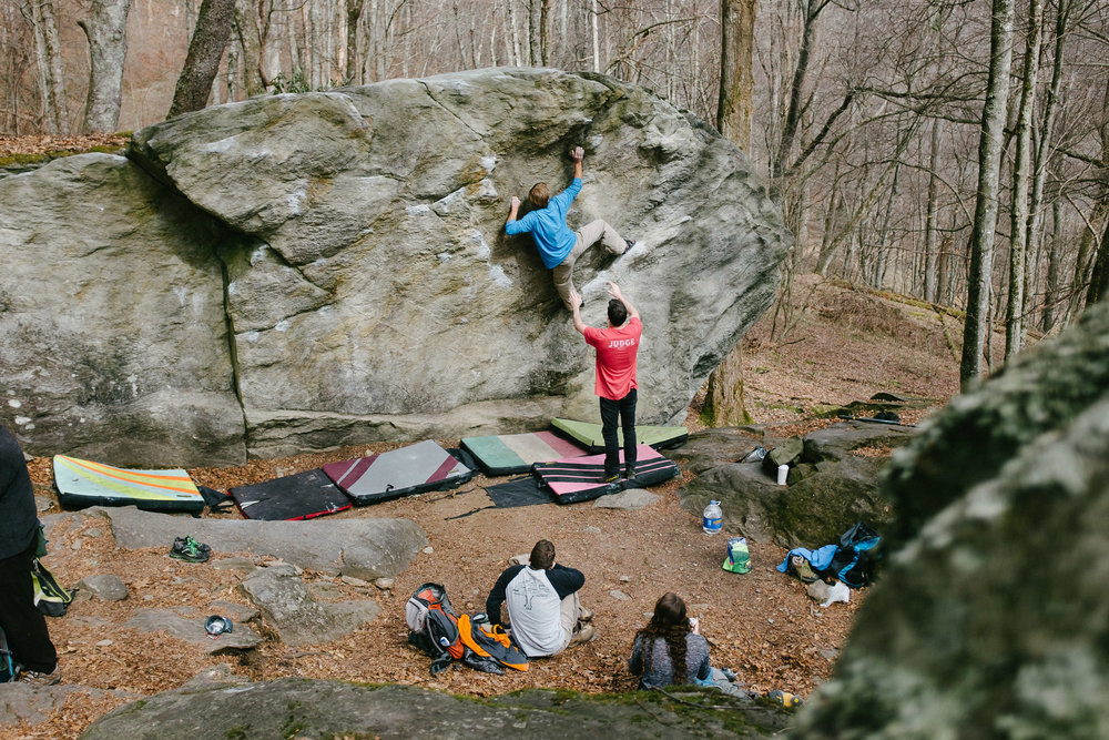 Five Ten Wall, Blowing Rock Boulders