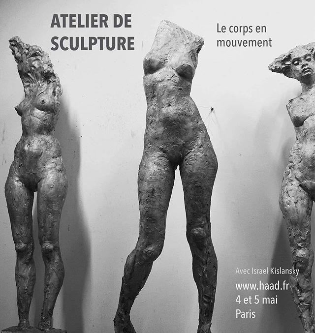 Stage de modelage les 4-5 mai à Paris avec Israël Kislansky sur le thème le «corps en mouvement». Pour ce stage nous utiliserons une structure pratique et efficace à base de fils d'aluminium permettant de modifier en douceur les positions du corps. 😊 Les inscriptions c'est maintenant sur 👉 haad.fr/paris ! #stagedesculpture #courdesculpture #apprendrelasculpture #sculptureworkshop #israelkislansky