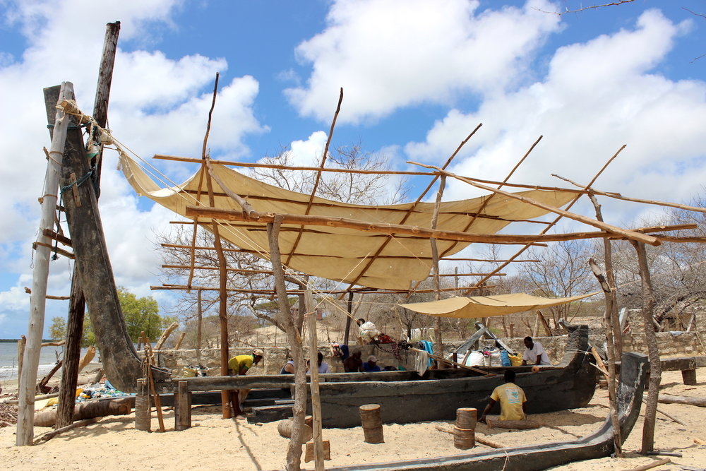 - THE FINISHED RECYCLED PARTS ARE SENT TO OUR DHOW BUILDERS IN LAMU FOR ASSEMBLING