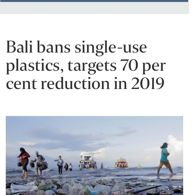 Great news from Bali on implementing a single-use plastic ban. @straits_times #plasticrevolution #banplastic #beatplasticpollution #cleanseas 🌊🐬🌏⛵️https://www.straitstimes.com/asia/se-asia/bali-bans-single-use-plastics-targets-70-per-cent-reduction-in-2019