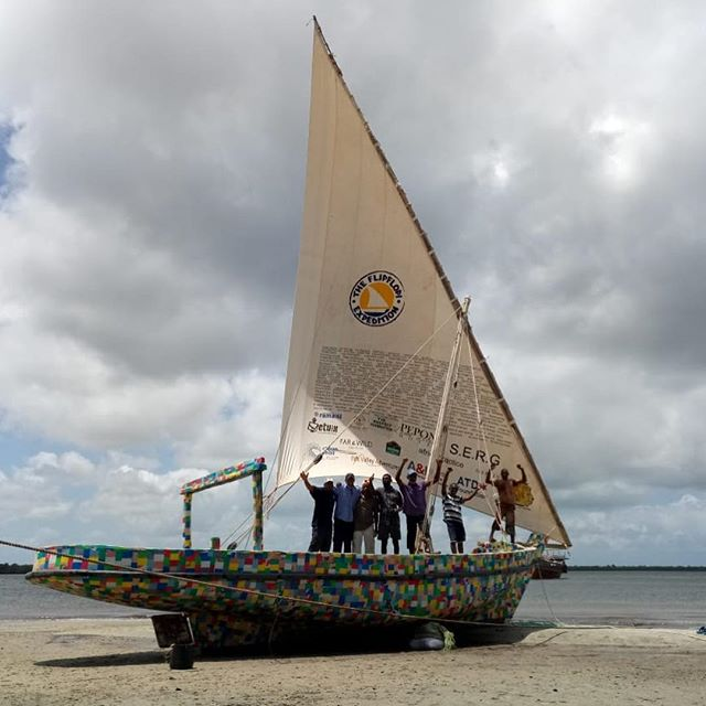 Expedition excitement! 1 month to go before our recycled-plastic dhow sets sail on its first overseas mission: we can't wait to sail to Zanzibar to inspire communities to think of new ways to beat plastic pollution 🌍🌍⛵️⛵️⛵️🌊🌊🌊http://www.theflipflopi.com/the-expedition/#plasticfree #plasticrevolution #beatplasticpollution #turnthetideonplastic #cleanseas #oceancleanup #lamu #zanzibar #nomoreplastic #indianocean #kenya