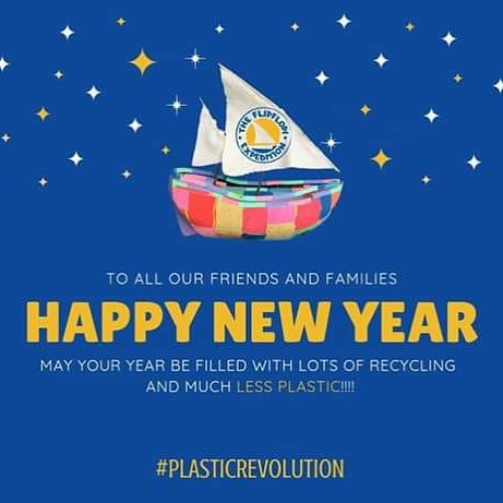 Happy new year to all our family and friends! And to 2019 being the year for total #plasticrevolution #beatplasticpollution #cleanseas #oceancleanup #reducereuserecycle #2019goals