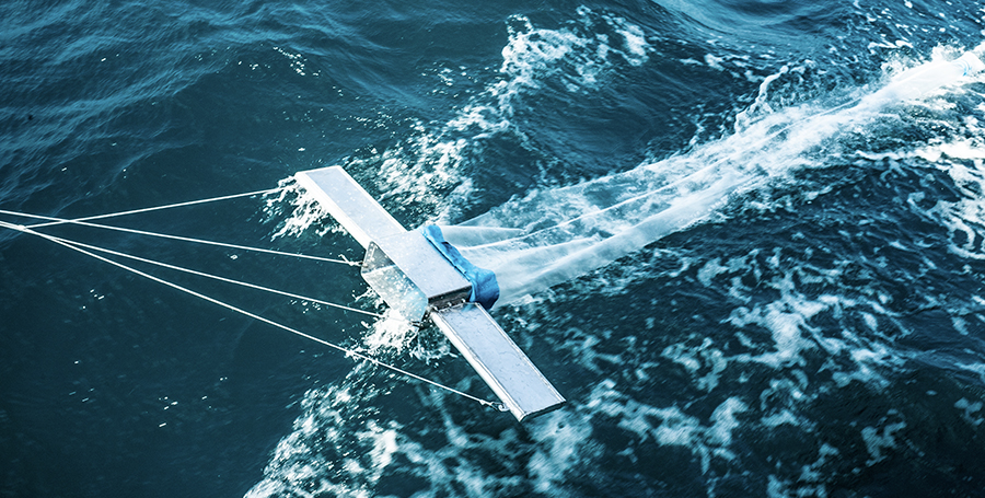 Scientific research - ocean water sampling to quantify microplastics in the Indian Ocean, an underinvestigated area due to threat of piracy