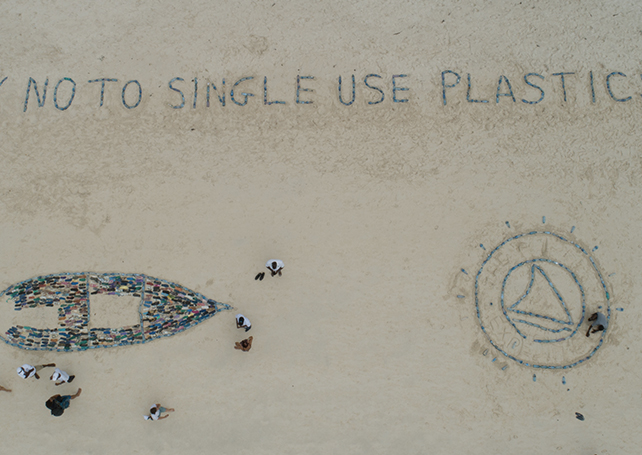 - We aspire to a world without single-use plastic.