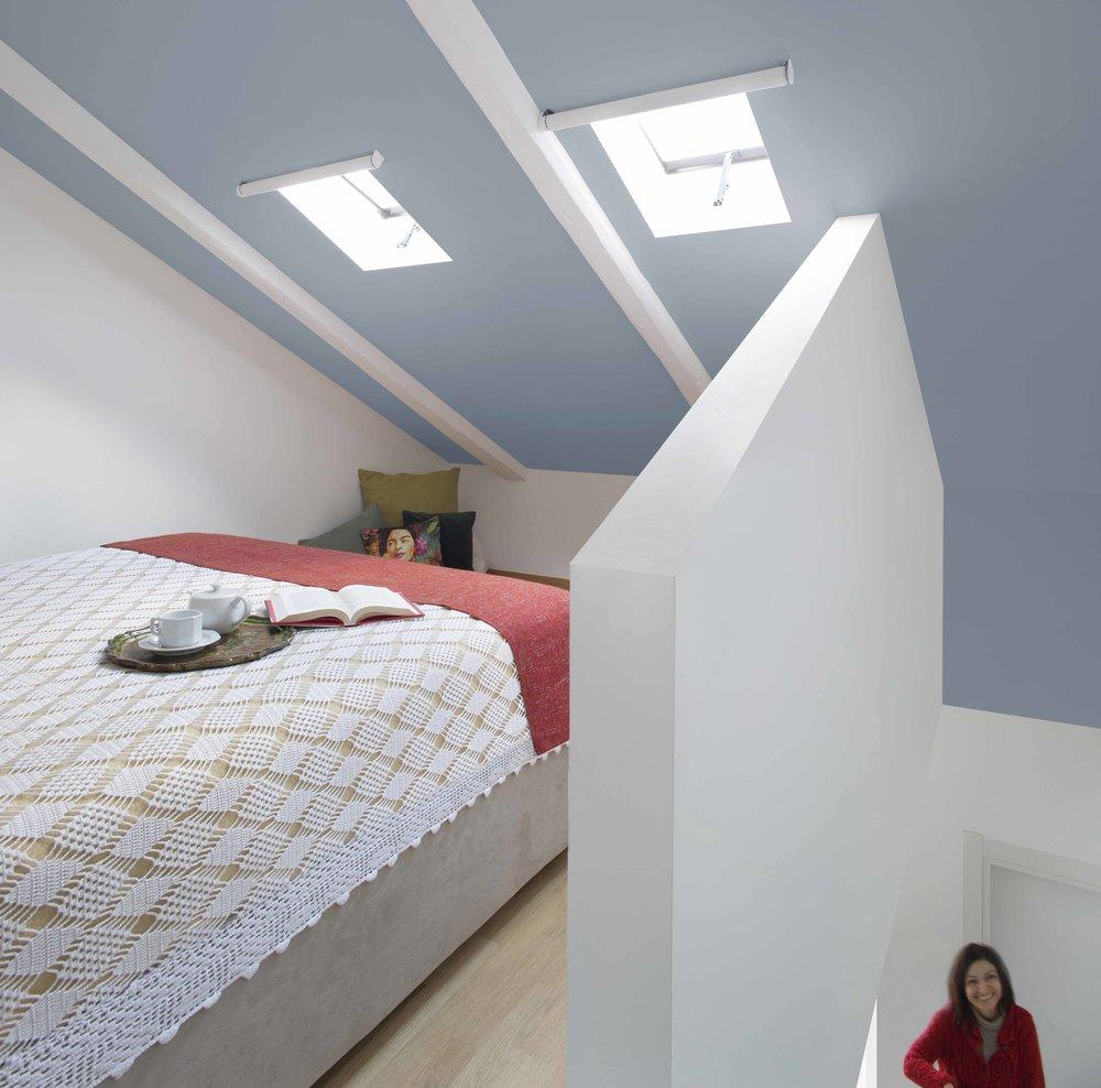 Camera da letto in soffitta