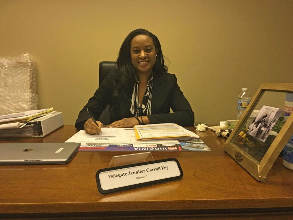 Del. Jennifer Carroll Foy (D-Prince William) at her office.Patrick Madden / WAMU