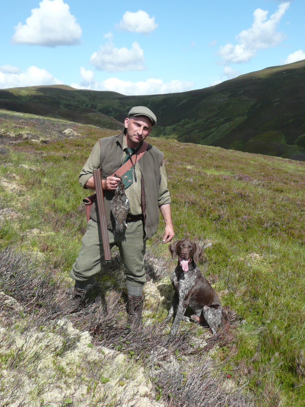 "Darryl and ""Lewis"" - here with his first Grouse in 2015"