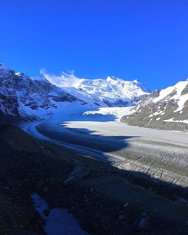 The great Corbassière Glacier and the Grand Combin - love the dramatic views in Val de Bagnes