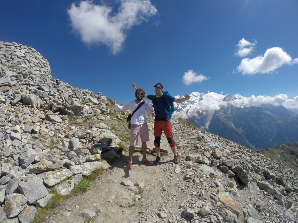 Happy hikers at Brevent - Chamonix