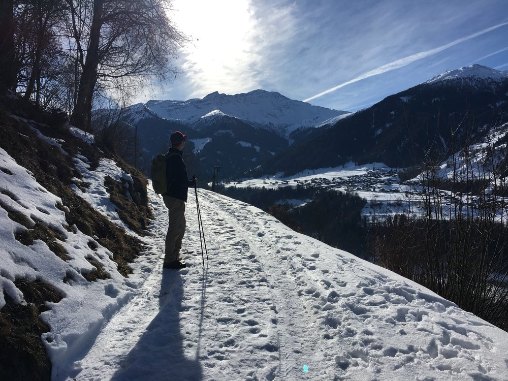 Switzerland, mid winter hike - not too chabby!