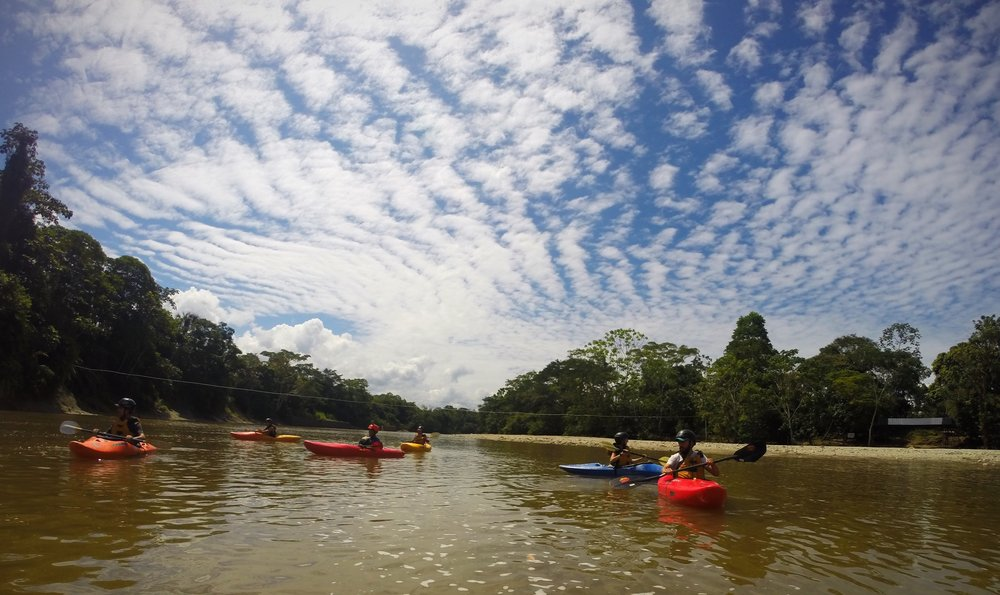 Kayaking at Jatuncayu River