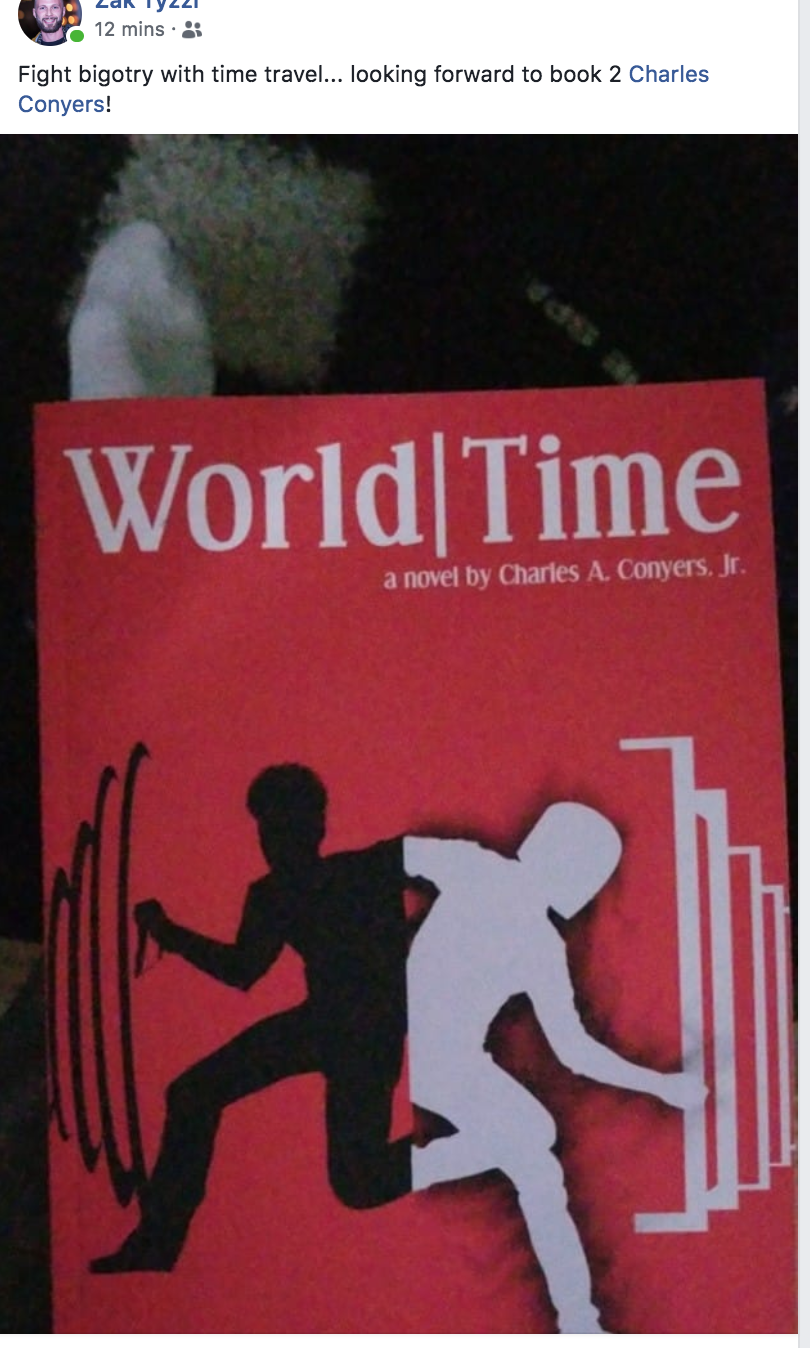 Zak gets his copy of World|Time