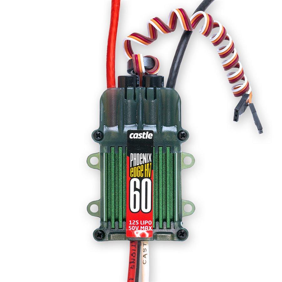 Phoenix Edge HV 60 - Telemetry Capable :YesESC Current Rating :60Data Logging :YesAuxiliary Wire :YesInternal BEC :NoMinimum Input Voltage :3SMaximum Input Voltage :12S