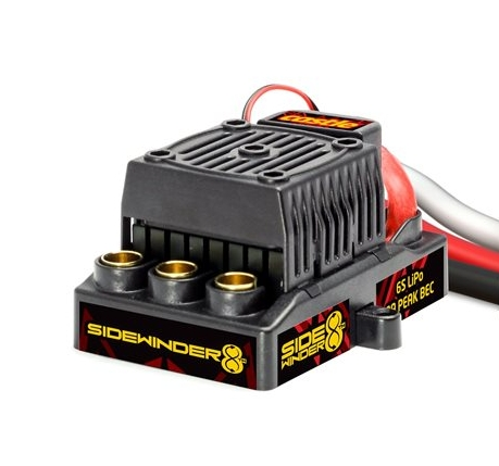 Sidewinder 8th - sensorless - Sidewinder 8th is our sport 1:8 scale waterproof* combo capable of 2-6S LiPo, with an 8 amp peak BEC. This is the perfect upgrade for 1:8 scale buggies, truggies and on-road vehicles as well as 1:10 scale monster trucks weighing up to 11 lbs. It can also work as a great upgrade for some 4WD short course trucks for 3s or 4s operation. It also comes standard with a highly efficient ESC cooling fan.This combo includes the Sidewinder 8th ESC and our 1515B-2200Kv motor featuring the same internal design as the award-winning Neu-Castle 1515-2200Kv motor.