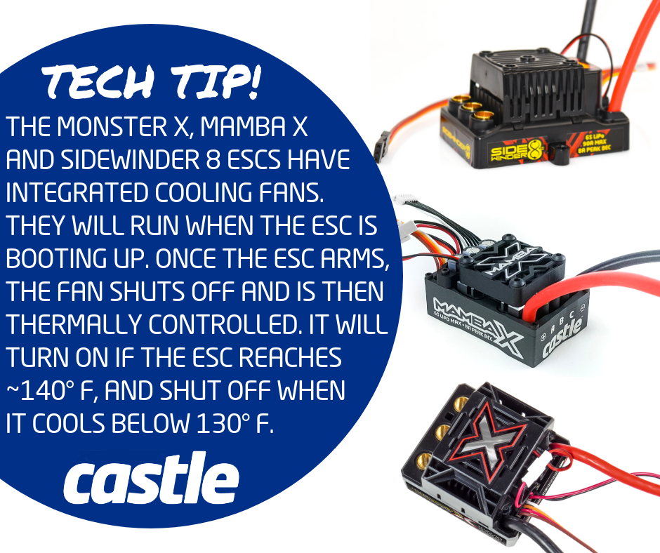 Castle Tech Tip ESC Fans