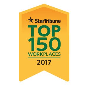 Minneapolis MN Star Tribune Newspapser Top 150 Workplaces logo.