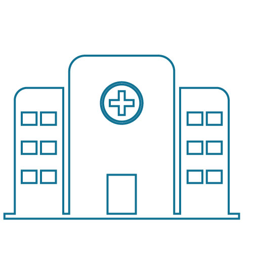 Healthcare building icon