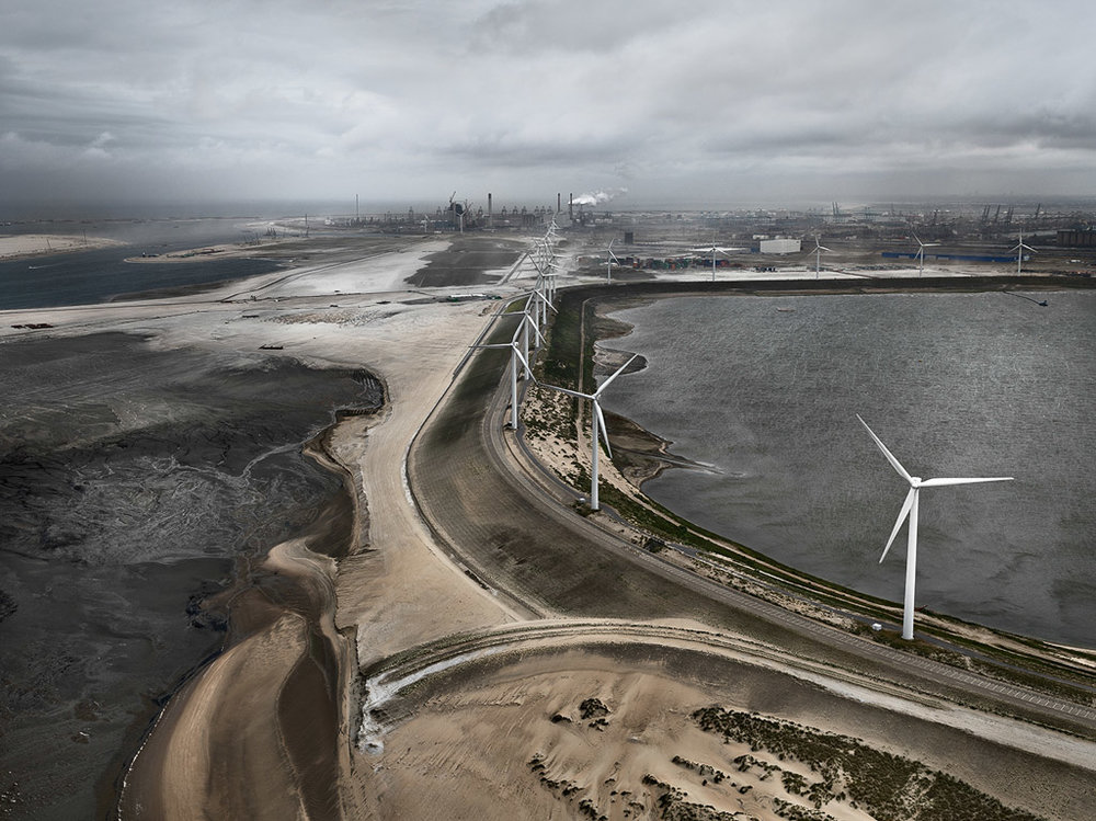 Flood Control Levee  MAASVLAKTE, Rotterdam, The Netherlands, 2011