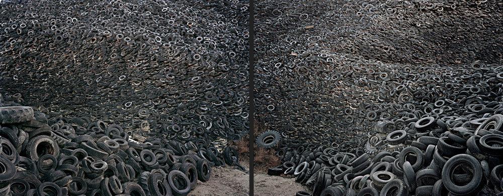 Oxford Tire Pile #9ab  Westley, California, USA, 1999