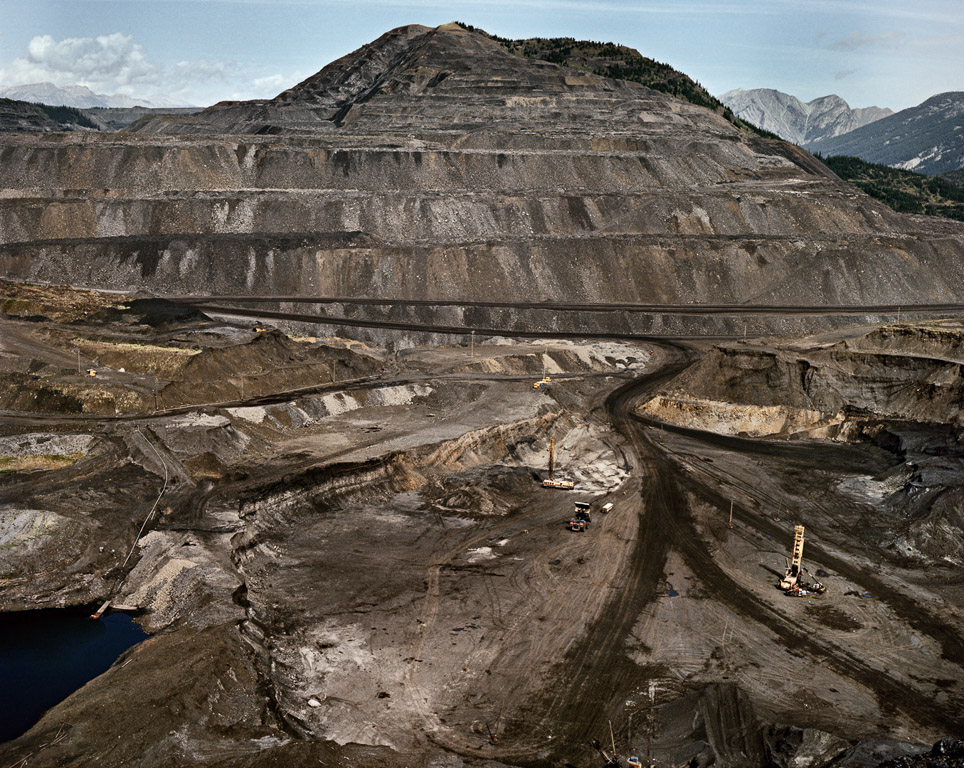 Mines #19  Westar Open Pit Coal Mine. Sparwood, British Columbia, Canada, 1985