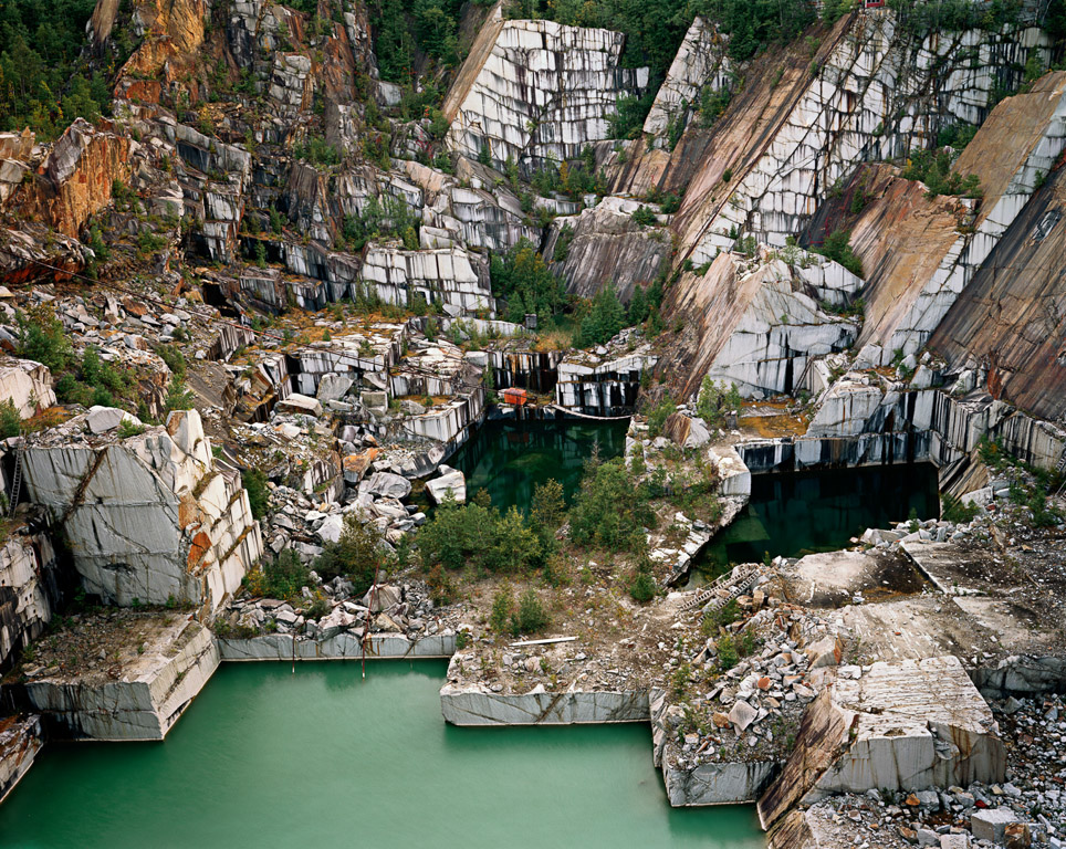 Rock of Ages #25  Abandoned Section, Adam-Pirie Quarry, Barre, Vermont, USA, 1991