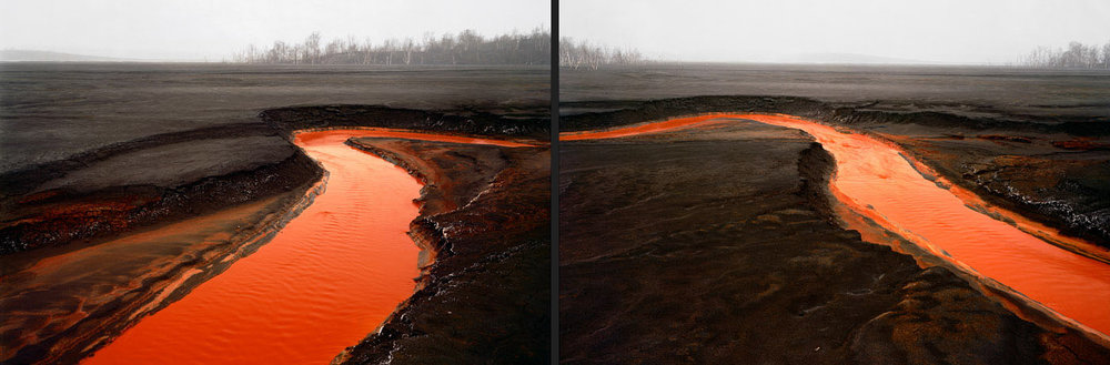 Nickel Tailings #34-35  (as diptych) - Sudbury, Ontario 1996