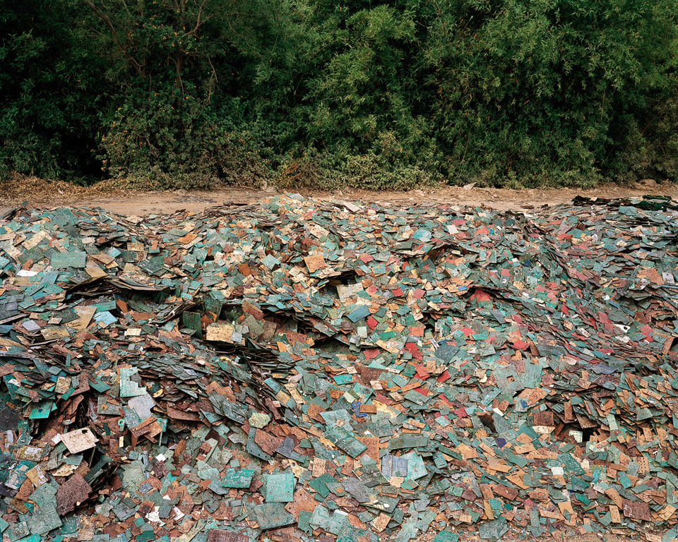 China Recycling #9  Circuit Boards, Guiyu, Guangdong Province, China, 2004