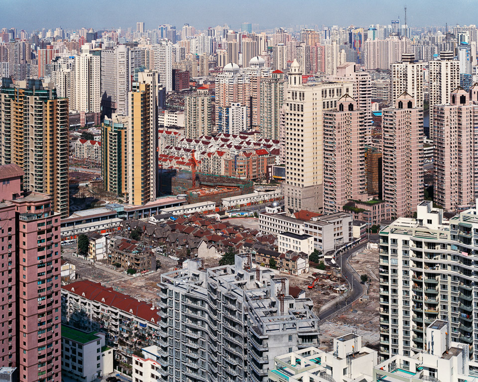 Urban Renewal #5  City Overview From Top of Military Hospital, Shanghai, China, 2004