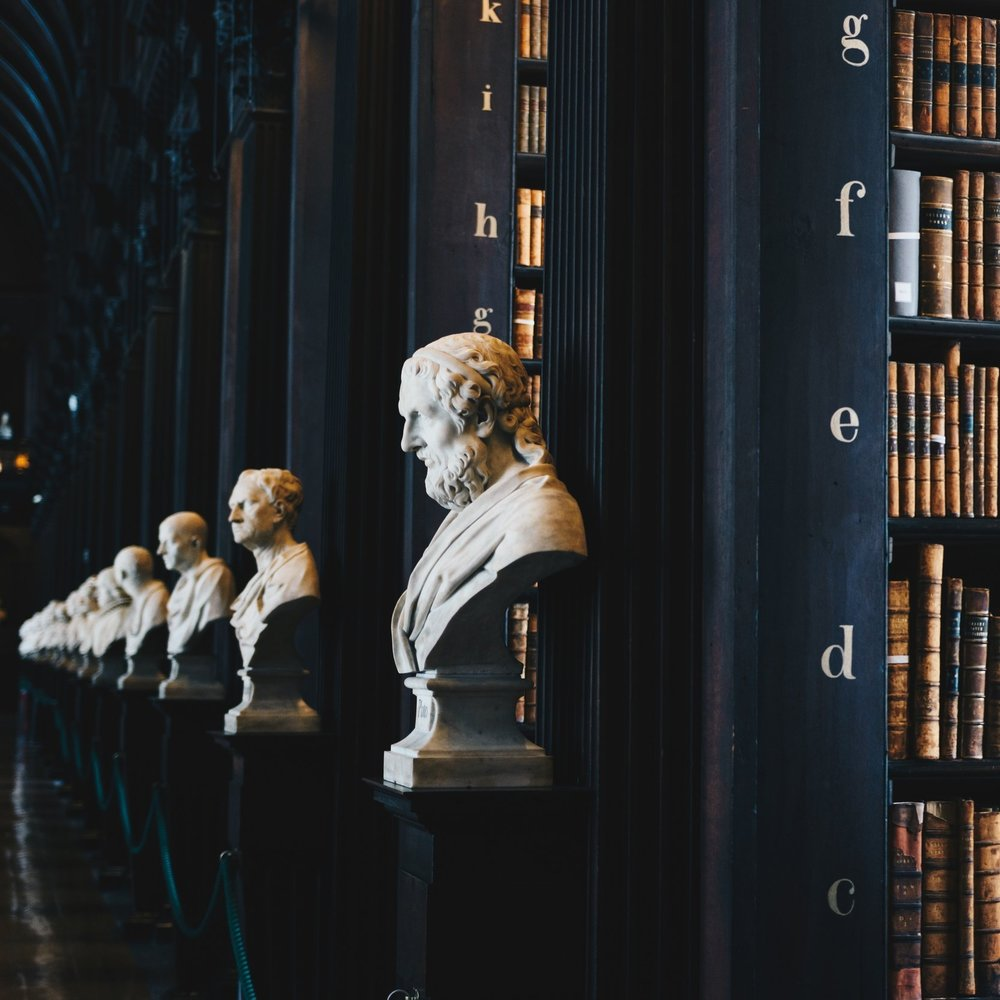Copying these marble busts is a crime, but parodying them? Carry on. (Photo credit Giammarco Boscaro via Unsplash)
